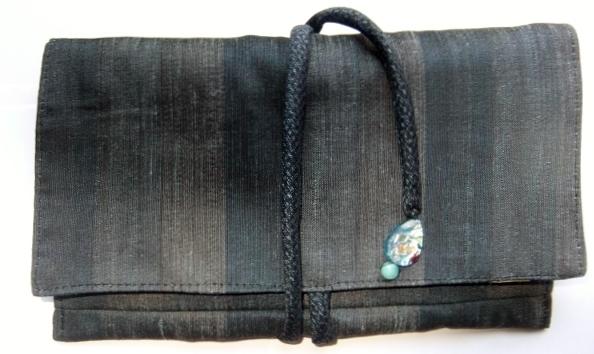 着物リメイク 羽織で作った和風財布 1262