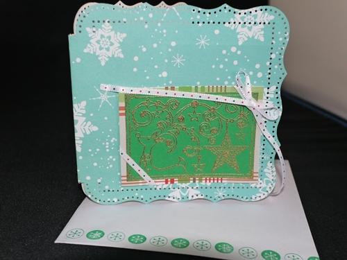 クリスマスカード 002 ブルーxトナカイ