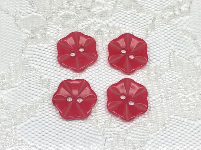 ボタン:フラワー型(S)/ピンク/4コ入<11>