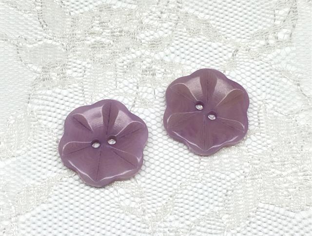 ボタン:フラワー型(M)/薄紫/2コ入<17>