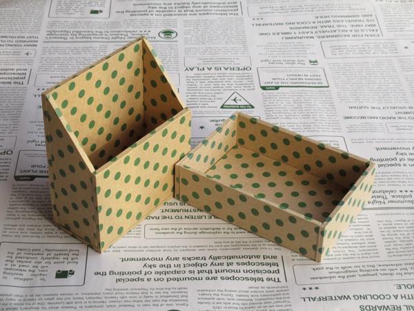 水玉の小箱セット(グリーン)
