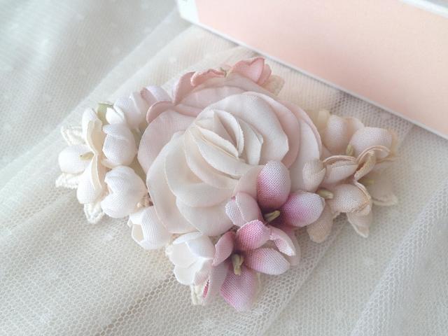 FLOWER DIAMONDバレッタ:pink