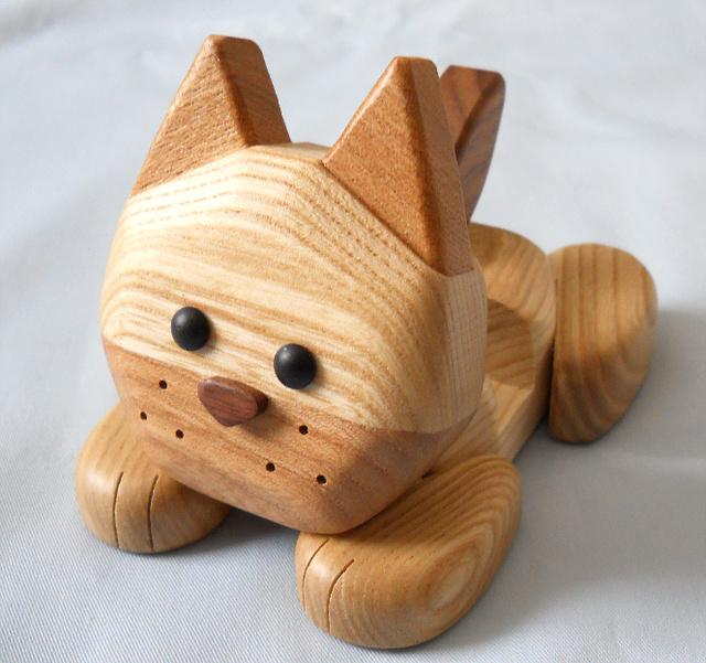 犬の『ハッピー』 携帯電話&スマホスタンド