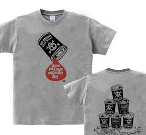 【再販】骸骨モーターオイル  WS〜WM?S〜XL Tシャツ【受注生産品】