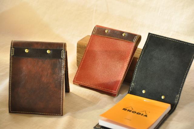 ロディアno.12 メモ帳付き革カバー