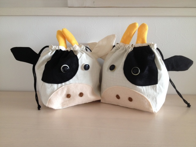 牛さんのお弁当袋