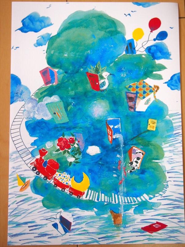 イラストポスター ドアの島 ハンドメイドマーケット Minne