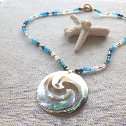 Swirl Wave Ocean Necklace