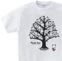 【再販】パンダ・ツリー 片面 WS〜WM?S〜XL Tシャツ【受注生産品】