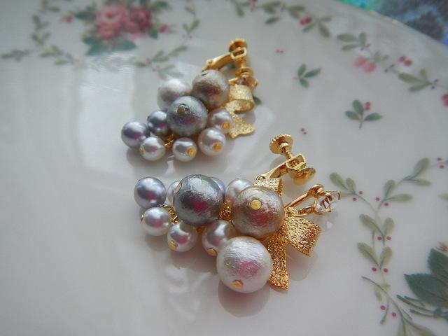 美しい葡萄 のイヤリング