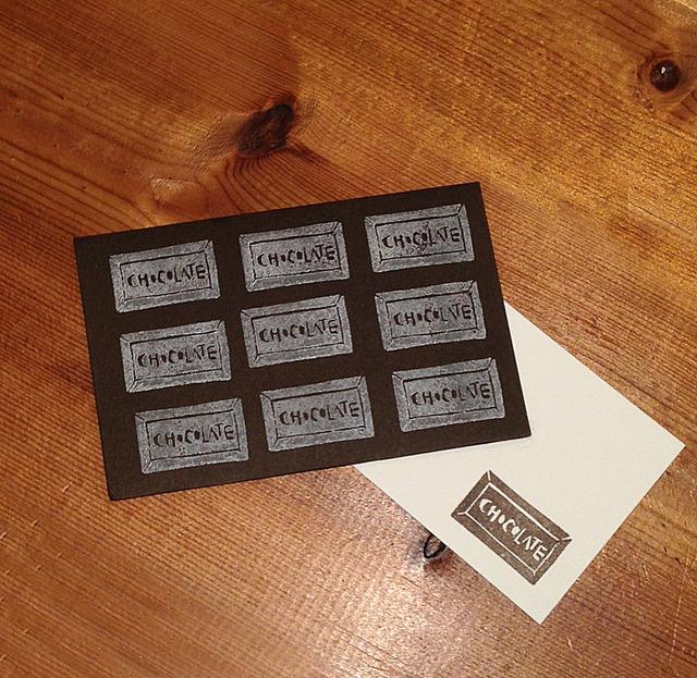 板チョコ メッセージカード 3セット