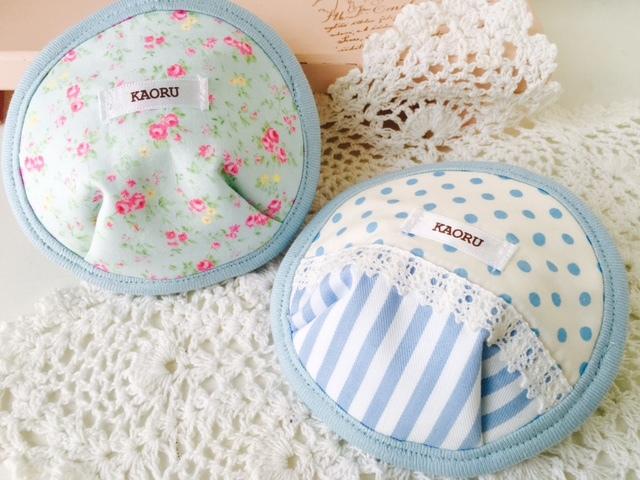 可愛い布母乳パット〜ブルー2個set〜出産祝いにも♪【A】