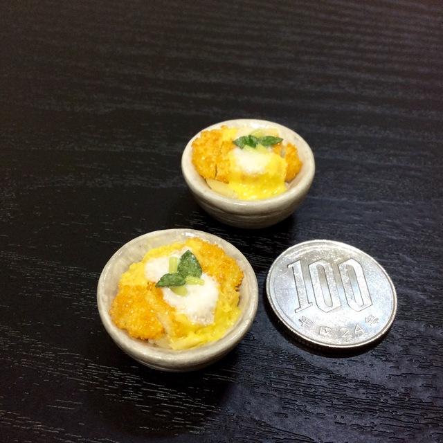 ミニチュアフードカツ丼