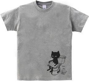 トイレとねこ  WS〜WM?S〜XL Tシャツ【受注生産品】