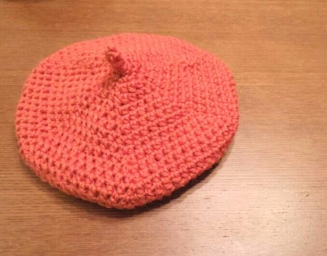 春色ベレー帽 アプリコットオレンジ