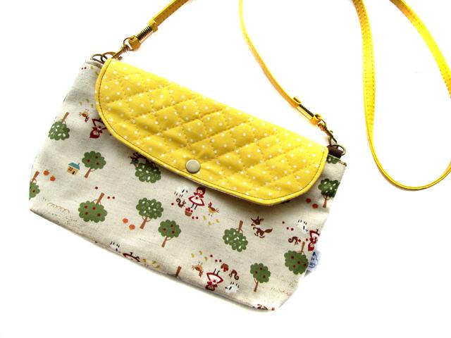 横ながポシェット★赤ずきんちゃん&レモンドット
