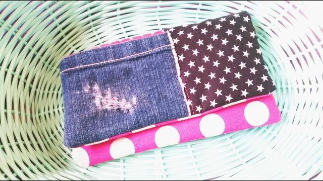左利きさん用のコンパクトな2つ折り財布*通帳ケース