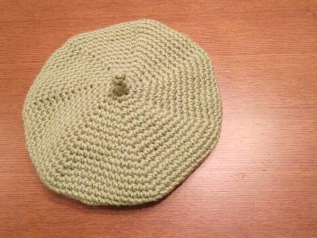 春色ベレー帽 オリーブ Sサイズ