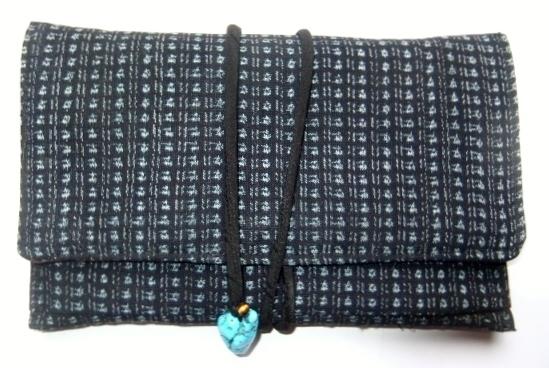 着物リメイク 男絣で作った和風財布 1270