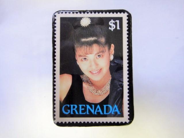 グレナダ 切手ブローチ1000