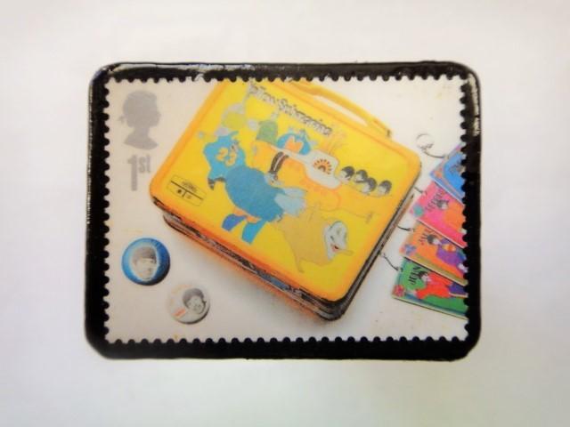 イギリス 切手ブローチ1004