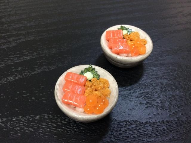ミニチュアフード海鮮丼