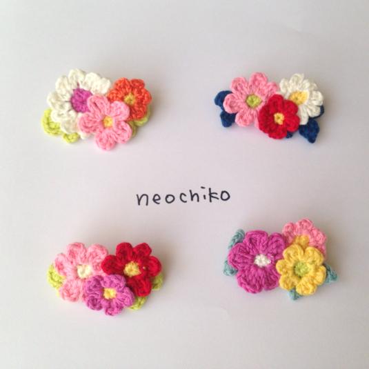 【再再…販!】小花のブローチ  ピンク?