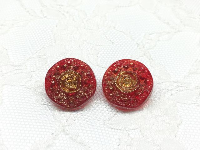 ボタン:平丸型/シャム/2コ入<25>