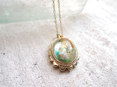 Seascapes flamed necklace