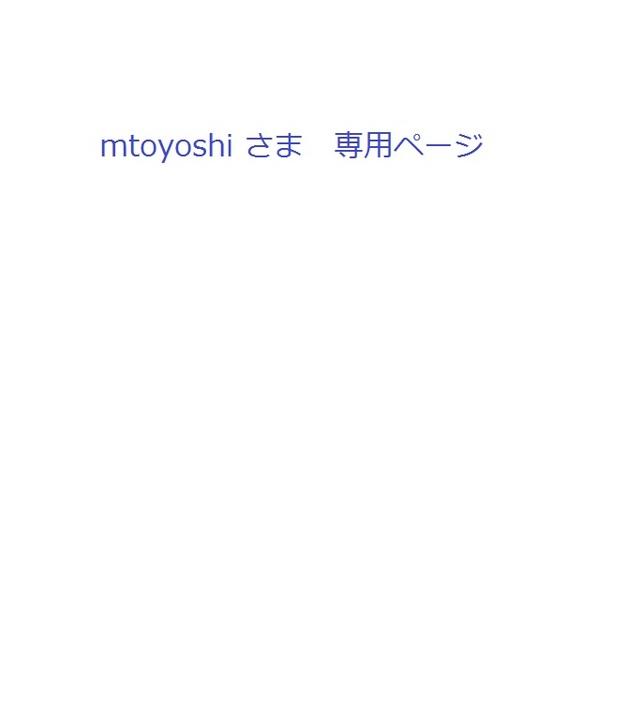 mtoyoshi さま 専用