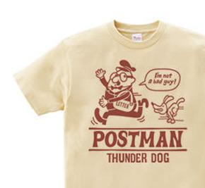 ポストマンとサンダードッグ 片面 WM〜WL?S〜XL Tシャツ【受注生産品】