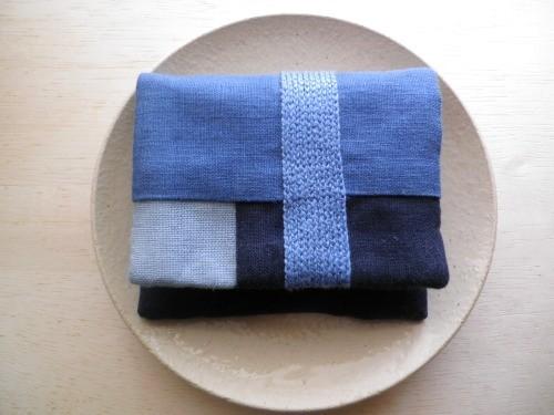 itoiro mini  purse pouch ( blue )