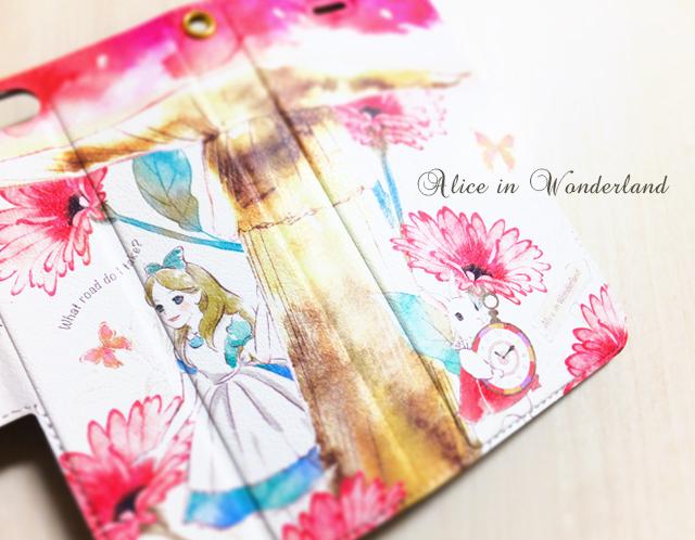 アリスのiPhoneケース〈手帳型〉