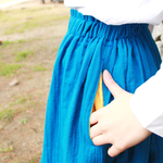 海色のスカート{POCKET COLOR FLARE SKIRT}