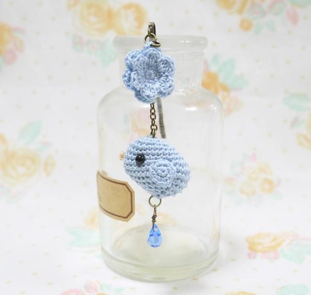 小鳥さんのヘアピン(ブルー)