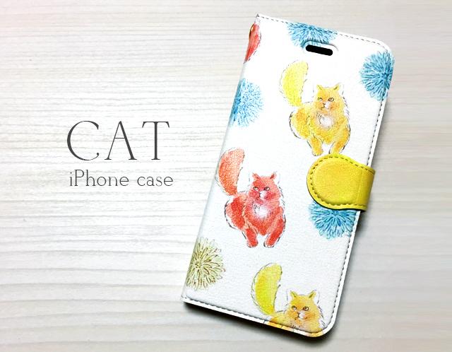 猫柄のiPhoneケース〈手帳型〉