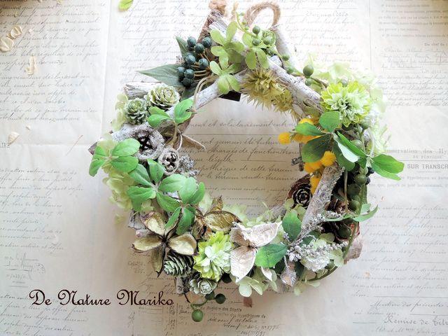森の中の白樺Garden Green Wreath