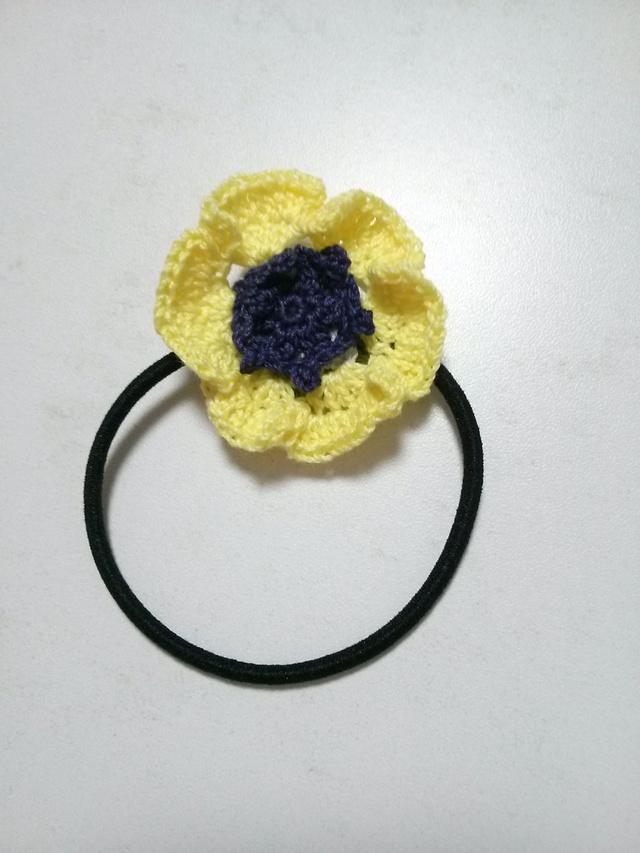アネモネヘアゴム〜黄色〜
