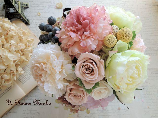 Saison de Fleur 〜 フリルダリアとローズのAntiqueアレンジ