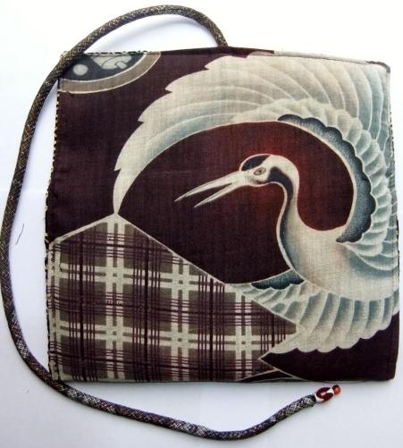 着物リメイク 羽織の裏地で作った和風財布 1273