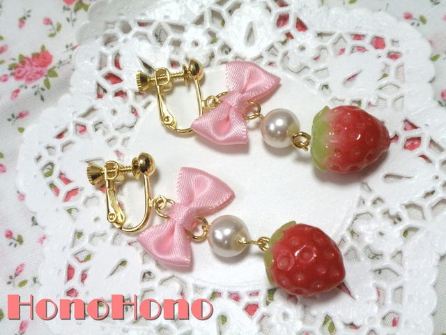 ・*:はる*・苺☆イヤリング