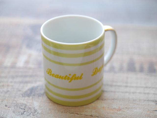 イニシャルを入れられるマグカップ Beautiful Days