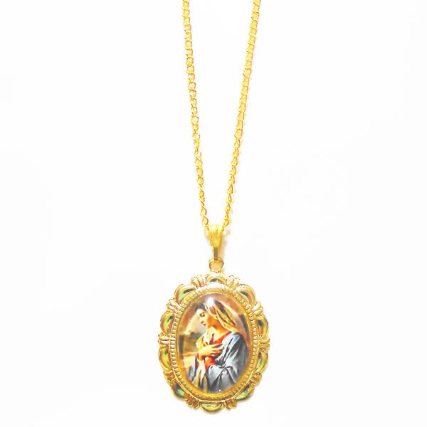 聖母マリア様の横向きネックレス
