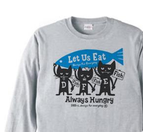 ハングリー・3キャッツ  長袖Tシャツ【受注生産品】
