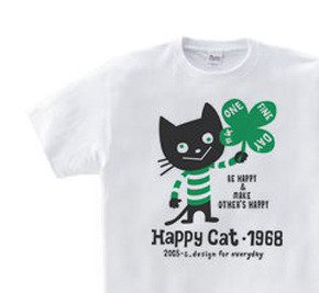 ハッピー・キャット WM〜WL?S〜XL Tシャツ【受注生産品】