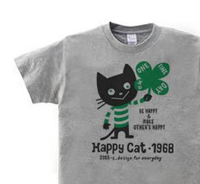ハッピー・キャット WS〜WM?S〜XL Tシャツ【受注生産品】