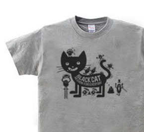 ブラックキャット×モンスター WM〜WL?S〜XL Tシャツ【受注生産品】