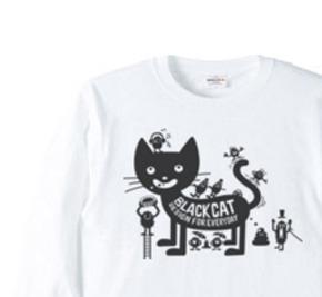 フ?ラックキャット×モンスター 長袖Tシャツ【受注生産品】