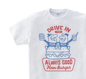 ビーンズマンとハンバーガー WS〜WM?S〜XL Tシャツ【受注生産品】
