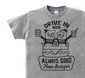 【再販】ビーンズマンとハンバーガー  WS〜WM?S〜XL Tシャツ【受注生産品】